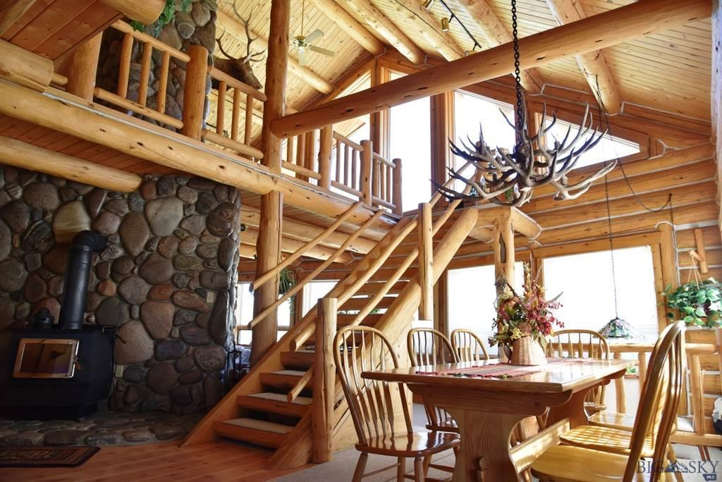 Dining Area & Log Staircase