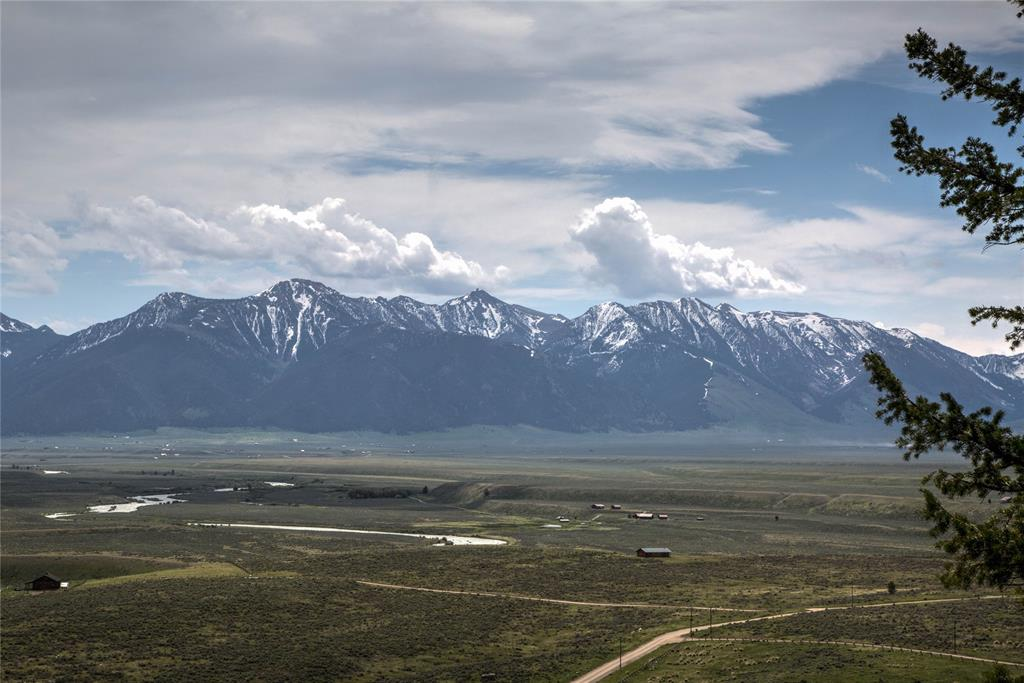 View of Madison River and Henry Mountains from \