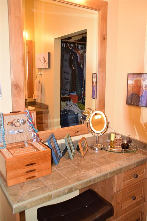 Separate makeup vanity in master bath