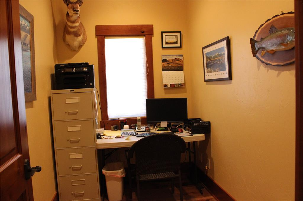Office area, off the laundry/mud room, right insid