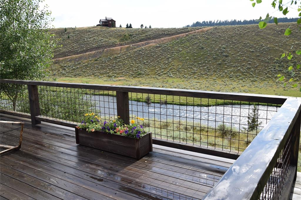View off the deck of the river and property across